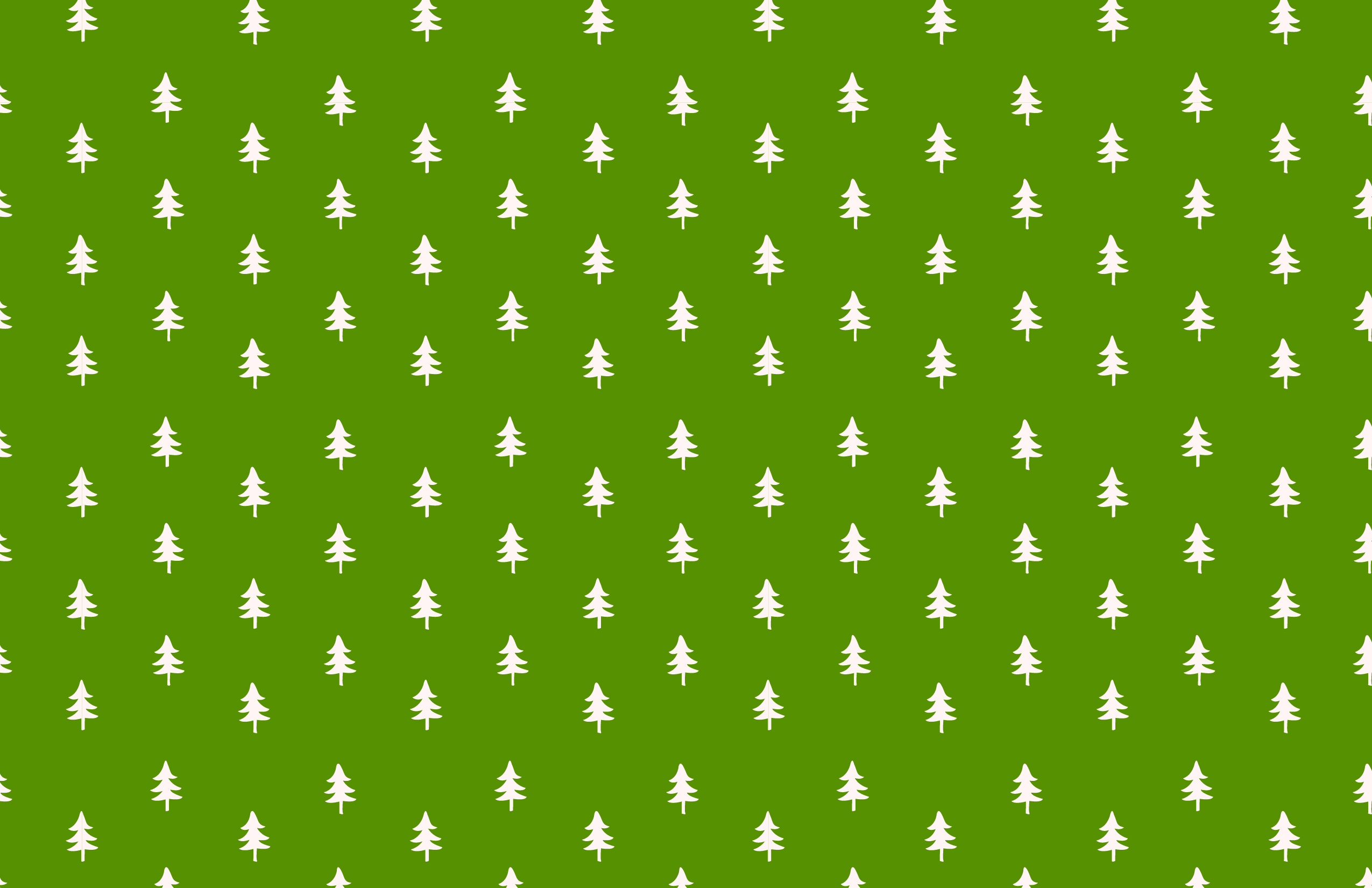 Holiday Flat Card - Back - Trees Option