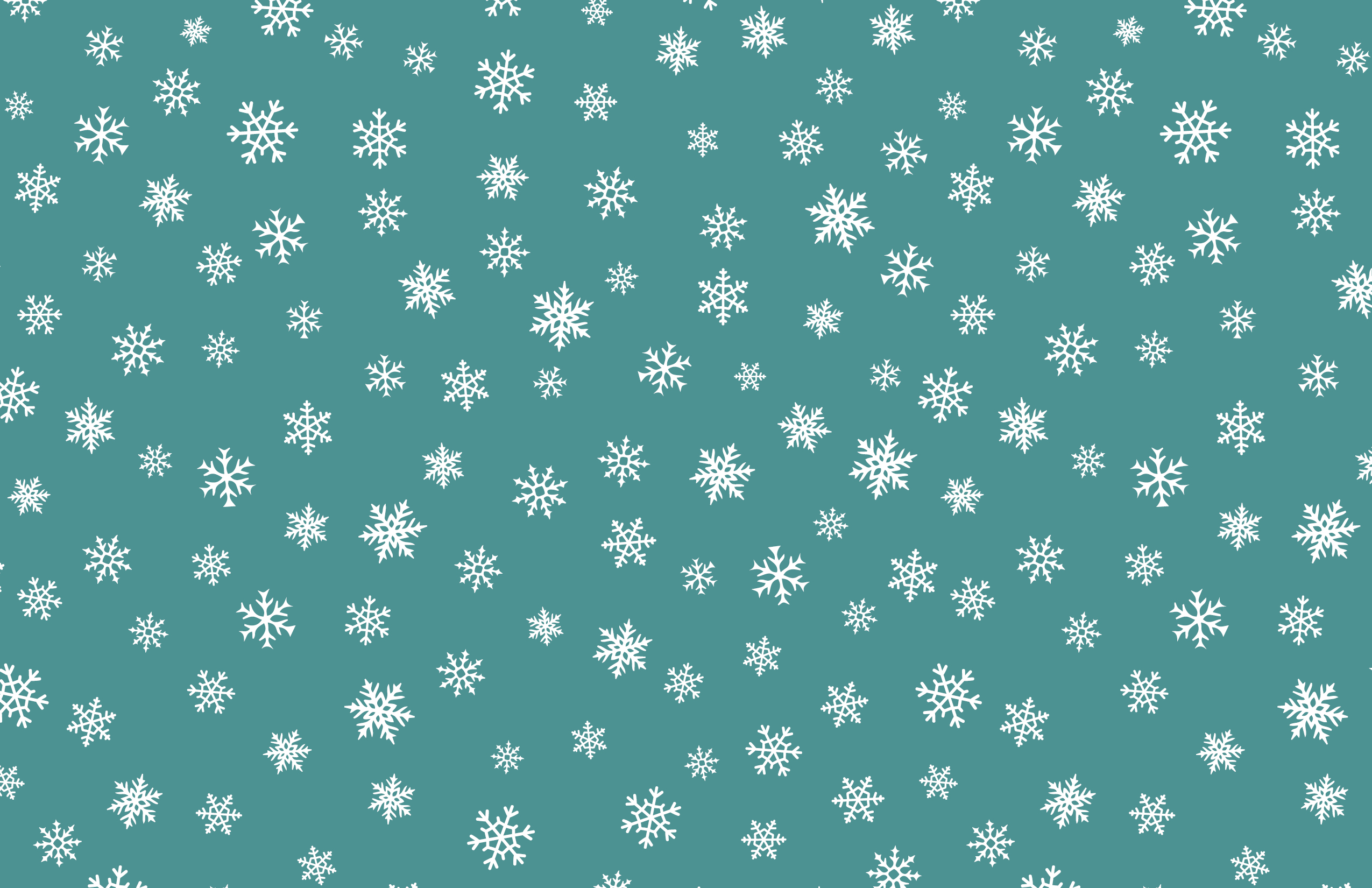 Holiday Flat Card - Back - Snowflake Option