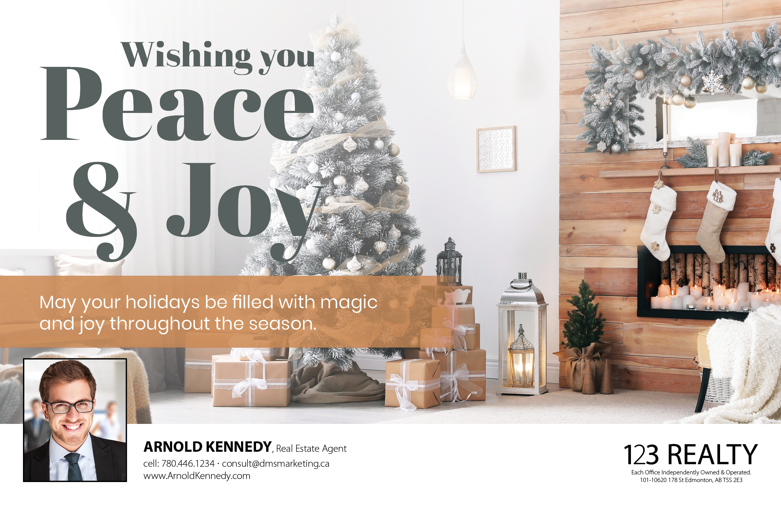 Holiday Flat Card - Fireplace
