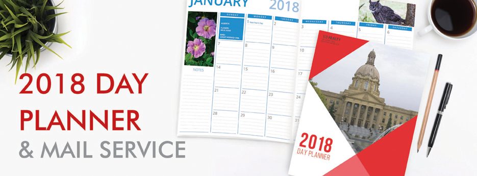 2018 Day Planner and Mail Service