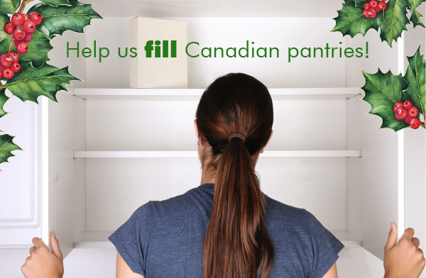 Help us fill Canadian pantries this holiday season!