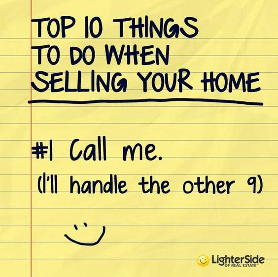 Top 10 Things to Do when Selling your Home (humour)