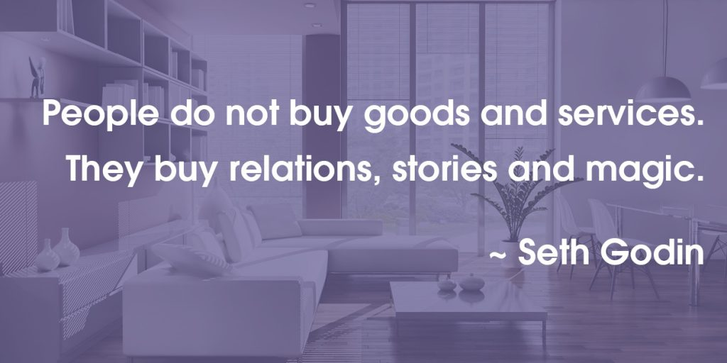 Seth Godin Quote on what people buy